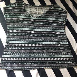 Aztec print slouchy top